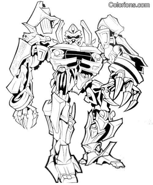 Coloriage et dessins gratuits Robot Transformers en ligne à imprimer