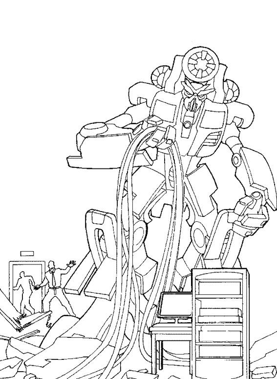 Coloriage et dessins gratuits Scène du Film Transformers à imprimer