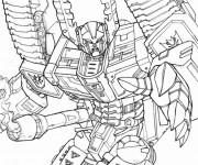 Coloriage et dessins gratuit Transformers à découper à imprimer