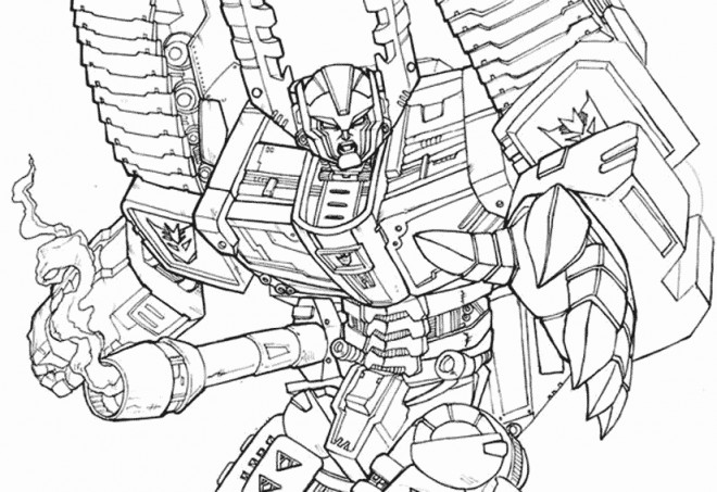 Coloriage Transformers à Découper Dessin Gratuit à Imprimer