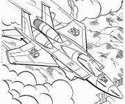Coloriage Transformers Avion