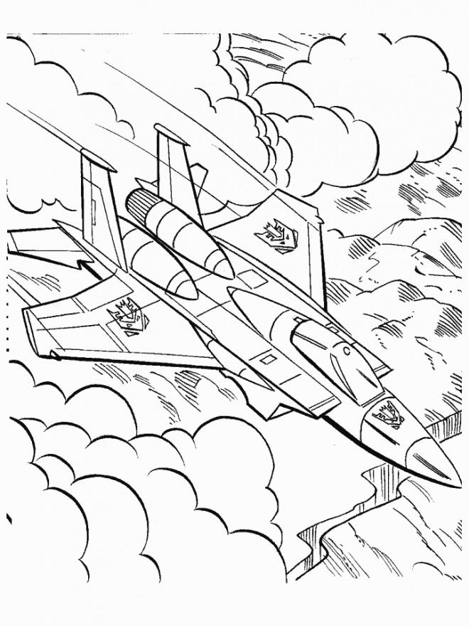 Coloriage et dessins gratuits Transformers Avion à imprimer