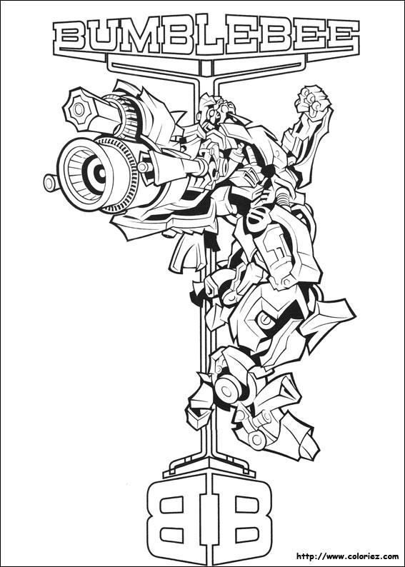 Coloriage Transformers Bumblebee Affiche Dessin Gratuit à