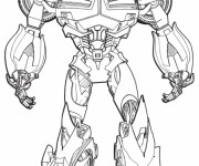 Coloriage Transformers Bumblebee couleur