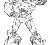 Coloriage Transformers Bumblebee en vecteur