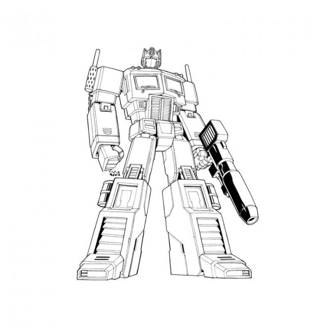 Coloriage Transformers Bumblebee Sur Ordinateur Dessin
