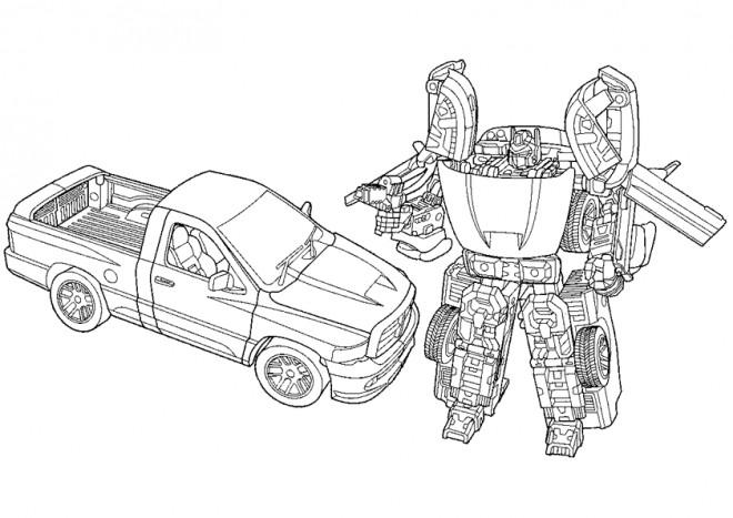 Coloriage Transformers Bumblebee Voiture Dessin Gratuit à