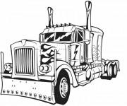 Coloriage et dessins gratuit Transformers Camion à imprimer