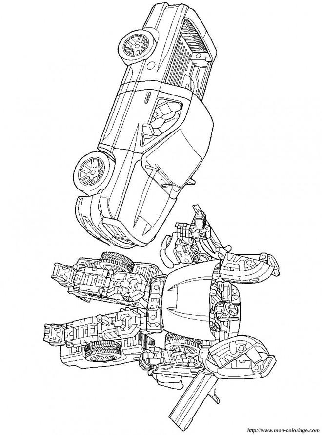 Coloriage et dessins gratuits Transformers Camionnette à imprimer