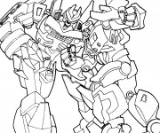 Coloriage Transformers combattants