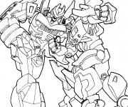 Coloriage et dessins gratuit Transformers combattants à imprimer