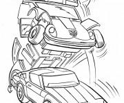 Coloriage et dessins gratuit Transformers de la planète Cybertron à imprimer
