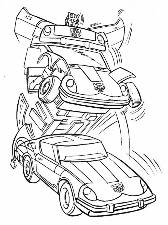 Coloriage et dessins gratuits Transformers de la planète Cybertron à imprimer