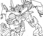 Coloriage et dessins gratuit Transformers dessin animé à imprimer