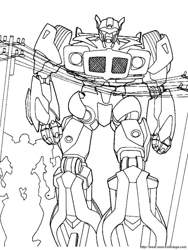 Coloriage et dessins gratuits Transformers en Ligne à imprimer