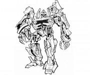 Coloriage et dessins gratuit Transformers en noir et blanc à imprimer