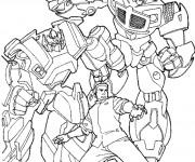 Coloriage Transformers et Sam