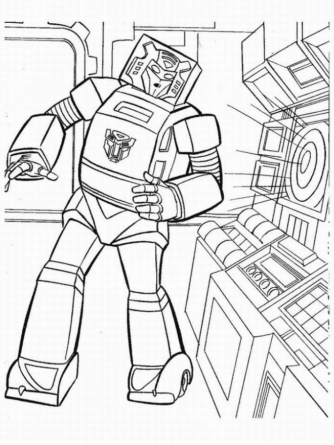Coloriage Facile Transformers.Coloriage Transformers Facile Dessin Gratuit A Imprimer