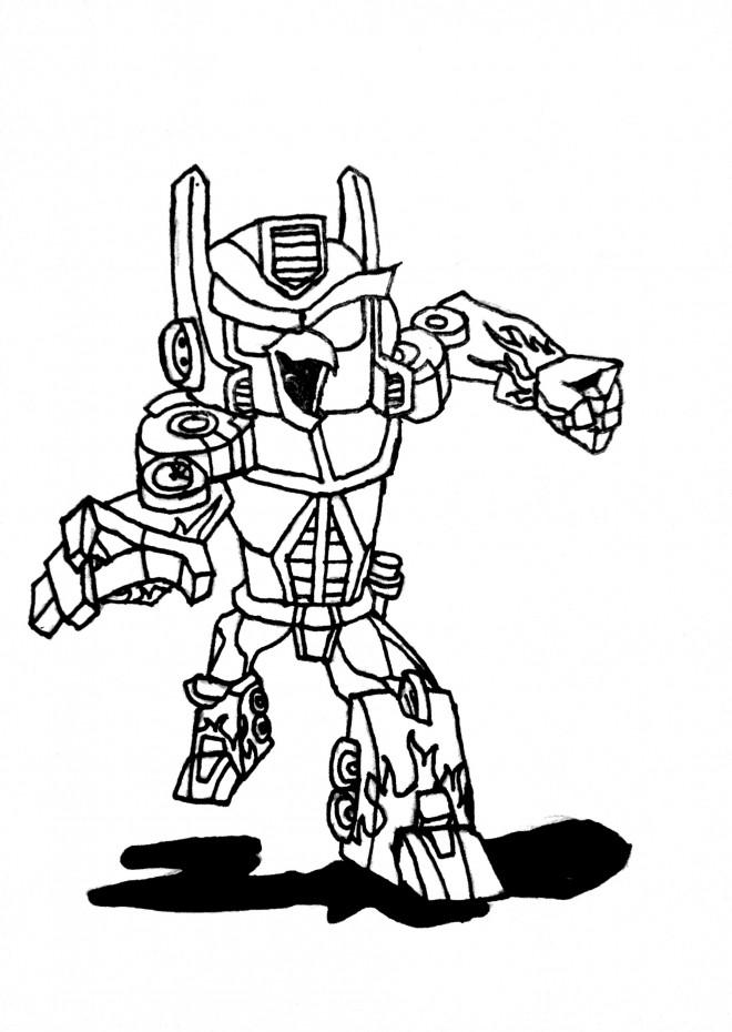 Coloriage et dessins gratuits Transformers humoristique à imprimer