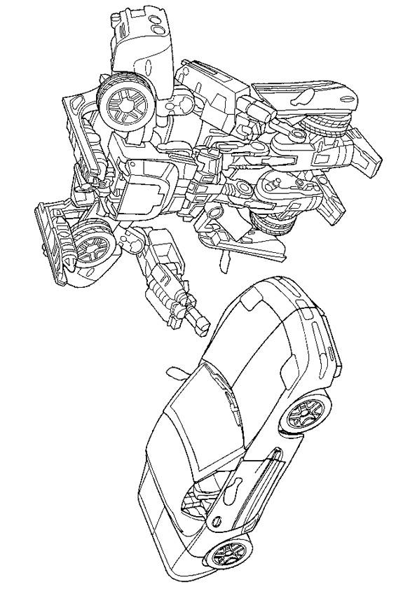 Coloriage et dessins gratuits Transformers La Voiture sport à imprimer