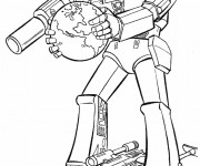 Coloriage Transformers maternelle