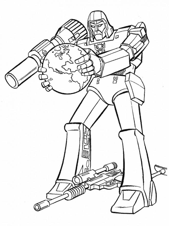 Coloriage et dessins gratuits Transformers maternelle à imprimer