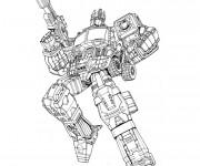 Coloriage et dessins gratuit Transformers Optimus Prime à imprimer
