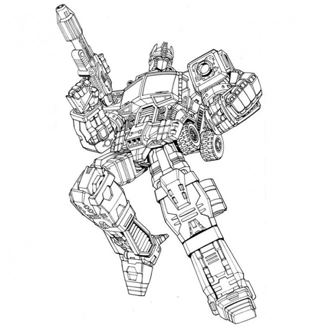 Coloriage transformers optimus prime dessin gratuit imprimer - Coloriage transformers ...