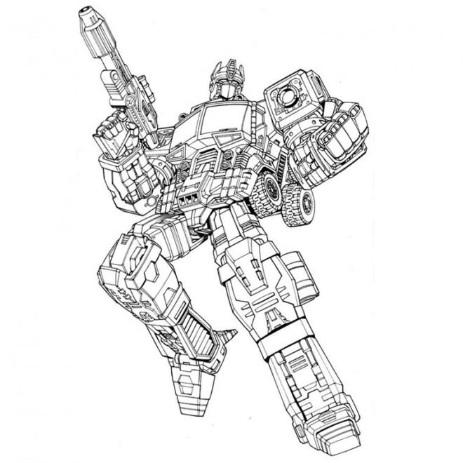 Coloriage et dessins gratuits Transformers Optimus Prime à imprimer