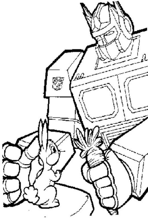 Coloriage et dessins gratuits Transformers Optimus Prime aux enfants à imprimer