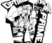 Coloriage Transformers Optimus Prime Logo