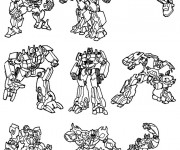 Coloriage Transformers Personnages