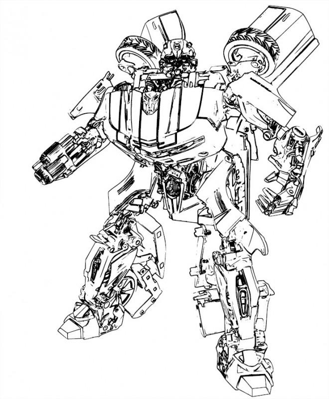 Coloriage Transformers Prime Bumblebee Dessin Gratuit à Imprimer