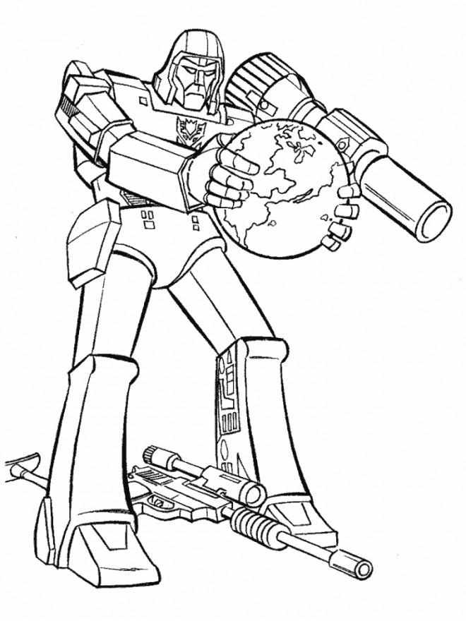 Coloriage et dessins gratuits Transformers protecteur de La Terre à imprimer