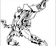 Coloriage et dessins gratuit Transformers Robot méchant à imprimer