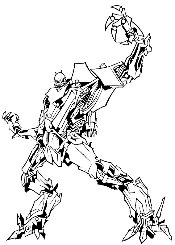 Coloriage Transformers Robot m chant
