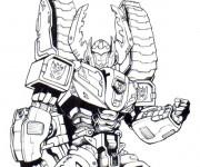 Coloriage et dessins gratuit Transformers Starscream à imprimer