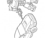 Coloriage Transformers Véhicules