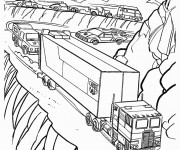 Coloriage Transformers Voitures