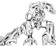 Coloriage et dessins gratuit Un Robot Transformers à imprimer
