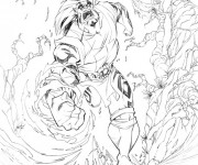 Coloriage Chaotic Ultraman