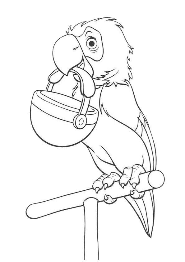 Coloriage et dessins gratuits Le Perroquet de Ultraman à imprimer