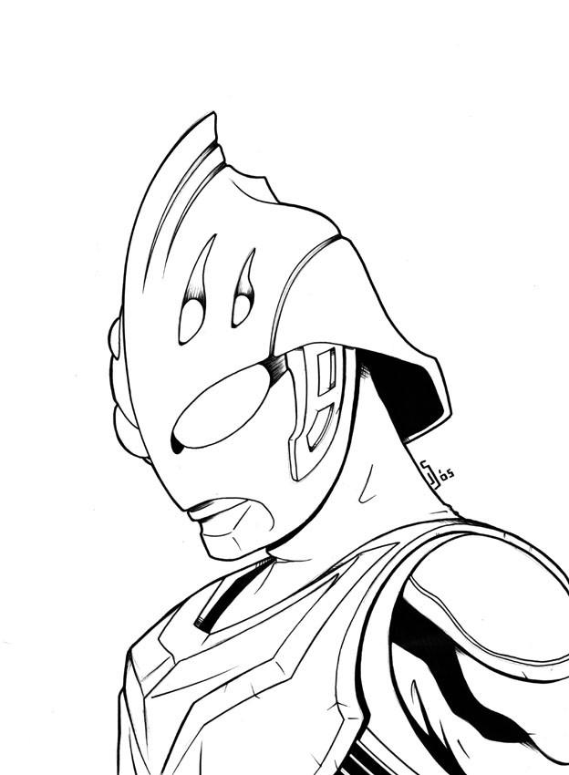 Coloriage et dessins gratuits Le Visage de Ultraman à imprimer