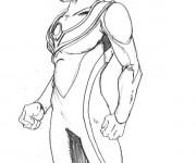 Coloriage Portrait Ultraman à compléter