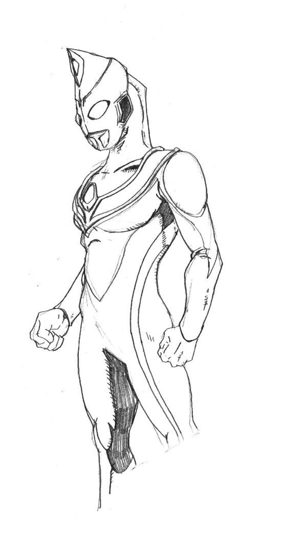 Coloriage et dessins gratuits Portrait Ultraman à compléter à imprimer