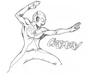Coloriage Ultraman 18