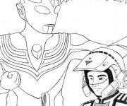 Coloriage Ultraman 19