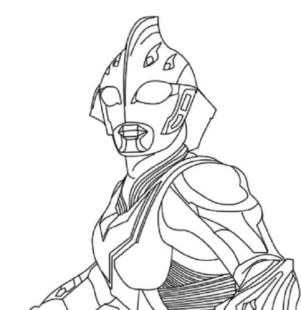 Coloriage et dessins gratuits Ultraman Alien à imprimer