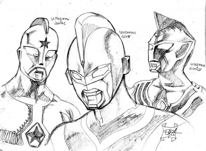 Coloriage et dessins gratuits Ultraman au crayon à imprimer