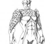 Coloriage Ultraman en noir et blanc